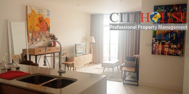 One bedroom apartment for rent at City Garden in Binh Thanh District