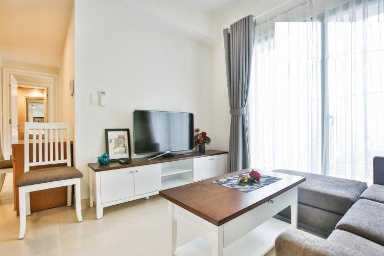 Apartment for rent in Masteri Thao Dien, fully furnished two bedrooms with river view