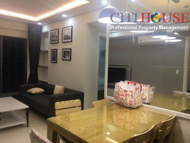 The Tresor Residence apartment for rent, two bedrooms full furnished, just 3 minutes to Ben Thanh Market
