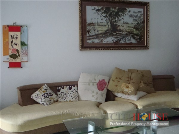 Central Garden Apartment for Rent, District 1, 2 beds, 10th floor, $600