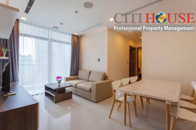 Apartment for rent in Vinhomes Central Park, fully furnished two bedrooms with city view