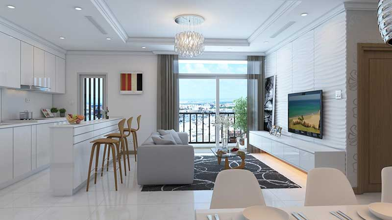 Apartment for rent vinhomes central park 3 bedroom interior view good price