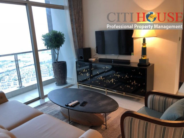 Apartment for rent in Vinhomes Central Park, two bedrooms fully furnished at Park 4 Tower