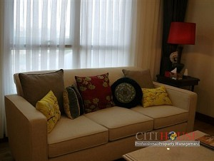 Apartment for rent in The Manor Officetel Building, 2beds fully furnished, 900 USD