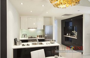 City Garden Apartment for rent, 3 bedrooms- Modern furniture, $1700