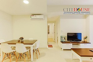 Masteri Thao Dien two bedrooms apartment for rent, high floor with modern styles