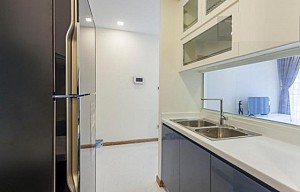 Two bedrooms apartment for rent at Vinhomes Central Park, nice design living space