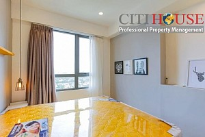 Two bedrooms apartment for rent in Masteri Thao Dien, high floor, nice interior