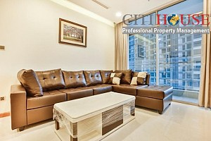 Vinhomes apartment for rent in Park 5 tower, two bedrooms fully furnished with nice view