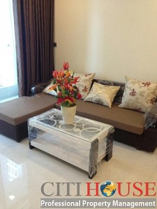 Vinhomes Central Park apartment for rent, two bedrooms, nice view and interior